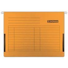 Závěsné desky, s bočnicemi, oranžové, karton, A4, DONAU