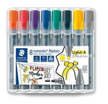 """Popisovače na flipchart """"Lumocolor 356"""", 8 barev, 2-5 mm, klínový hrot, STAEDTLER 356 SWP8"""