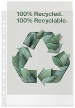 """Euroobaly """"Recycled"""", čirá, A4, 70 mikronů, pomerančový povrch, ESSELTE"""