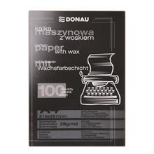 Průpisový papír, černý, pro psací stroj, A4, 100 listů, DONAU