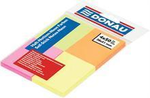 Samolepicí bloček, 38x51 mm, 4x50 lístků, DONAU, mix barev