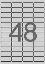 Etiketa, stříbrná, 45,7 x 21,2mm, zaoblené rohy, voděodolná, polyester, 4800ks/bal., APLI