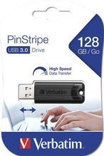 "128GB USB Flash disk ""PinStripe"", USB 3.0, VERBATIM, černý"