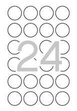 Etiketa bezpečnostní, kruhová, průměr 40mm, APLI, 240 ks/bal., APLI