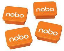 Magnety, oranžová, 4 ks, NOBO