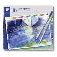 "Akvarelové pastelky ""Karat"", sada, kovová krabička, 36 barev, STAEDTLER"