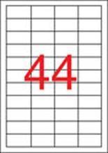 Etiketa, průsvitná, matná, 48,5 x 25,4mm, voděodolná, polyester, 880ks/bal., APLI