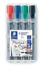 """Popisovač na flipchart """"Lumocolor 356"""", sada, 4 barvy, kuželový hrot, STAEDTLER"""