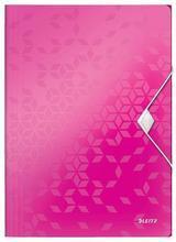 """Desky na spisy """"Wow"""", růžová, s gumičkou, PP, A4, LEITZ"""