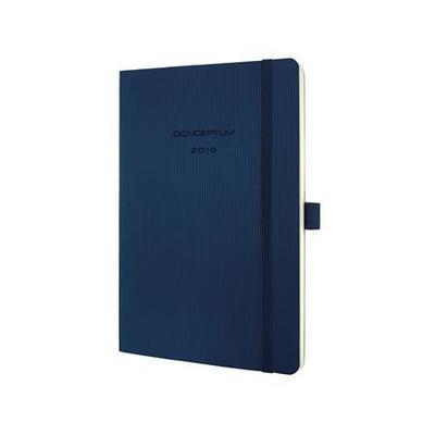 """Diář """"Conceptum"""", modrá, 135x210, týdenní, 2018, měkké desky, SIGEL"""