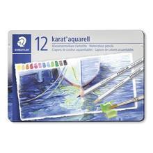 "Akvarelové pastelky ""Karat"", sada, kovová krabička, 12 barev, STAEDTLER"