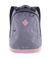 """Batoh """"Bicolor"""", šedá-růžová, 20 litrů, s přihrádkou na notebook, PULSE"""