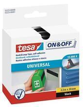 """Samolepicí pás pro univerzání použití """"On&Off 55225"""", bílá, suchý zip, 20 mm x 2,5 m, TESA"""