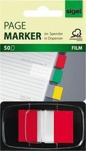 """Plastové záložky, """"Z"""", 50 listů, 43x25 mm, SIGEL, červené"""