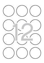 Etikety, kruhové, fluorescentní žlutá, průměr 60mm, 240 ks/bal., APLI