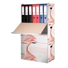 """Archivační kontejner na pořadače """"Standard"""", bílá, s předním otevíráním, karton, ESSELTE"""