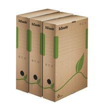 """Archivační krabice """"Eco"""", přírodní hnědá, 80 mm, A4, ESSELTE"""