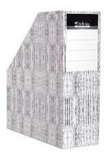 Stojan na časopisy, dekor textil, karton, 90 mm, VICTORIA