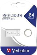 "USB flash disk  ""Executive Metal"", 64GB, USB 2.0,  VERBATIM"