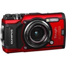 """Fotoaparát k extrémním sportům, 12 MP, 4x zoom, OLYMPUS """"TG-5"""", červený"""