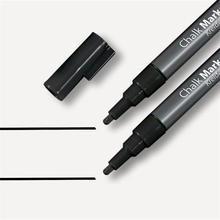 Křídový popisovač, černá, 1 - 2 mm, kuželový hrot, tekutý, SIGEL