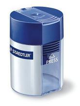 Ořezávátko, na 1 tužku, se zásobníkem na odpad, modré, STAEDTLER