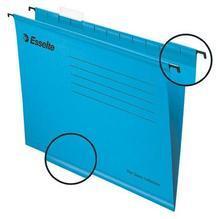 """Zesílené závěsné desky """"Classic"""", modrá, A4, recyklovaný karton, ESSELTE"""
