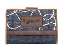 """Peněženka """"Jeans Glossy"""", modrá-hnědá, PULSE"""