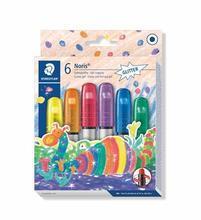 "Voskovky ""Noris Club"", 6 třpytivých barev, gelové, STAEDTLER"