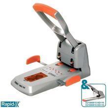 Velkokapacitní děrovačka Rapid Supreme HDC150/2, Stříbrná/Oranžová