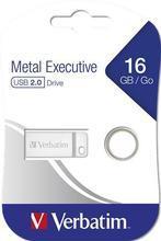 "USB flash disk ""Executive Metal"", 16GB, USB 2.0,  VERBATIM"