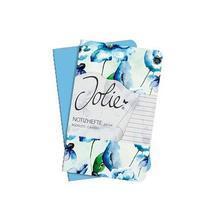 """Sešit """"Jolie"""", modrá/květiny, A6, linkovaný, 32 listů, SIGEL"""