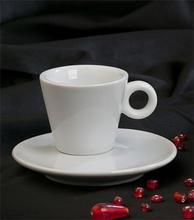 Espresso šálek + podšálek, 70 ml, bílý