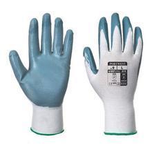 "Ochranné rukavice, ""Flexo Grip"", šedo-bílá, nitril, velikost L"