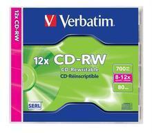 CD-RW 700MB, 8-10x, Verbatim, jewel box