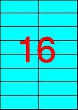 Etiketa, 105 x 37mm, modrá, 1600 ks/bal., APLI
