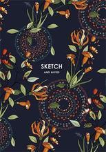 """Skicák """"Sketch&Note"""", mix motivů, čistý, pevný obal, A5, 64 listů, ,SHKOLYARYK"""