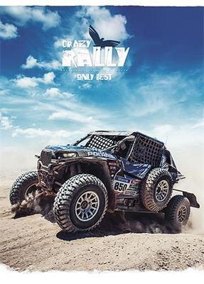 """Sešit """"Crazy rally"""", linkovaný, mix, A5, 36 listů, SHKOLYARYK"""