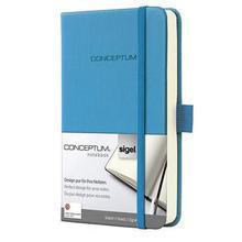 """Poznámkový blok """"Conceptum"""", nebeská modrá, exkluzivní, A6, linkovaný, 194 stran, tvrdé desky, SIGEL"""