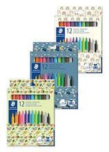 """Fixy """"Pattern Mix"""", mix vzorů, 12 barev, pratelné, STAEDTLER 325 PMC12"""