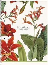 """Spirálový sešit """"Secret Garden"""", mix, A4+, čtverečkovaný, 80 listů, SHKOLYARYK"""