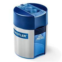 Ořezávátko, na 2 tužky, se zásobníkem na odpad, modré, STAEDTLER
