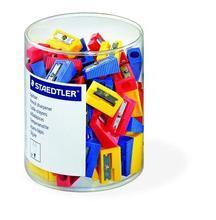 Ořezávátko, na 1 tužku, plastové, různé barvy, 100ks, STAEDTLER