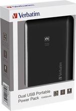 Přenosná baterie se dvěma porty USB, 10 000 mAh, VERBATIM