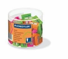 """Ořezávátko """"Neon"""", na 1 tužku, plastové, různé barvy, 60ks, STAEDTLER"""