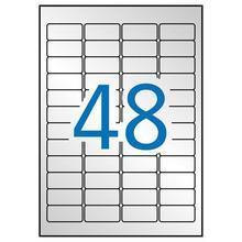 Etiketa, stříbrná, 45,7 x 21,2mm, zaoblené rohy, voděodolná, polyester, 960ks/bal., APLI