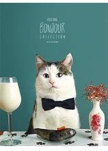 """Sešit """"Bonjour"""", čtverečkovaný, mix, A5, 48 listů, SHKOLYARYK"""