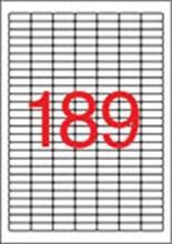 Etiketa krycí, 25,4 x 10mm, 3780ks/bal., APLI