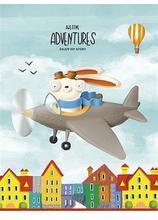 """Sešit """"Adventures"""", čtverečkovaný, mix, A5, 36 listů, SHKOLYARYK"""