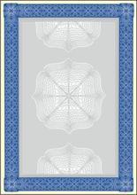 Papír s motivem Diplom, modrá, A4, 185g, SIGEL